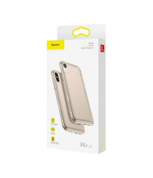 Кейси iPhone Xr Baseus Safety Airbag Case trans-gold