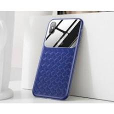Кейси iPhone Xr Baseus Glass Weaving Case blue