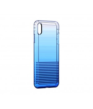 Кейси iPhone Xs Max Baseus Colorful Airbag case trans-blue