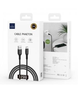Кабелі Wiwu Cyclone Data Cable F12 (USB  to USB-C)