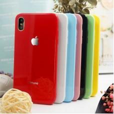 Кейси iPhone XS Glass Case Rainbow