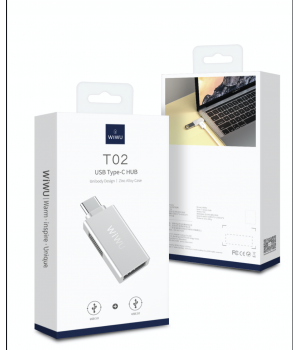 Перехідник Wiwu T02 USB USB-С Hub (USB3.0 + USB2.0)