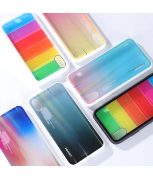 Кейси iPhone XS Joyroom Rainbow Glass Series