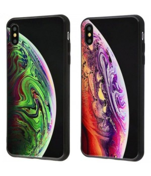 Кейси iPhone XS Max Glass Case Planet