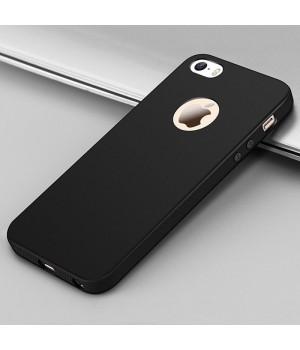 Кейси iPhone 5/5S/SE Дешевий Cилікон з Вирізом