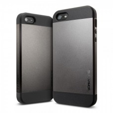 Кейси iPhone 4/4S Spigen Slim Armor Space Gray