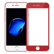 Скло iPhone 7/8/SE Rock 3D Full Screen Tempered Glass with Soft Edge red