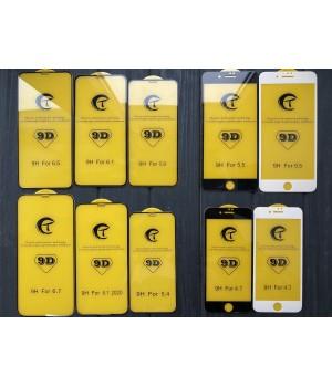Скло iPhone 12/12 Pro Triplex 9D Glass 0,25mm Black