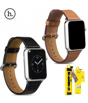Аксесуари iWatch Ремінець Hoco Art Series Luxury Real Leather 38/40mm brown