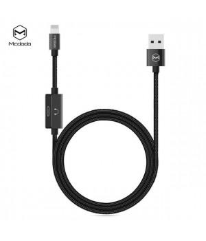 Перехідники McDodo MT Series 2in1 USB AM to Lightning Audio Adapter black 1.2m