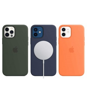 Кейси iPhone 12 Pro Max Apple Silicone Case Original with MagSafe