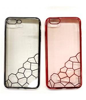 Кейси iPhone 7plus/8plus Силікон з Блискучим Обідком та Візерунком