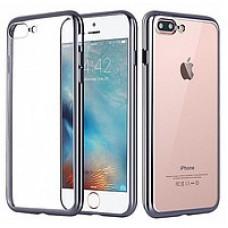 Кейси iPhone 7plus/8plus Силікон з Блискучим Обідком