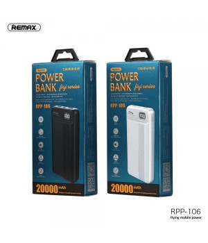 Зовнішні акумулятори Power Bank Remax 20000mAh Fizi series RPP-106