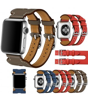 Аксесуари iWatch Ремінець Hermes Fauve Barenia Double Buckle Cuff 42/44mm