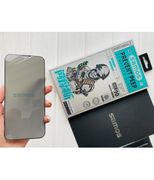 Скло iPhone 12/12Pro Samos 9d Full Screen Anti-peep black