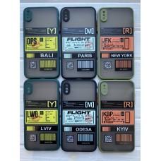 Кейси iPhone XS Matte Skin Ticket series