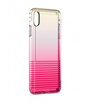 Кейси iPhone Xs Max Baseus Colorful Airbag Case trans-red