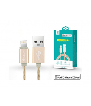 Кабелі Lightning Fashion Cable for Apple iOS (MFI) 2.0m gold