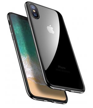 Кейси iPhone X Силікон Блискучий Ободок