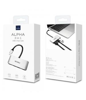 Перехідник Wiwu Alpha 3in1 USB-C Hub C2H (HDMI + USB-C + USB3.0)