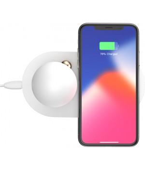 Безпровідні зарядні пристрої Baseus Wireless Charg Mushroom Lamp Desktop white