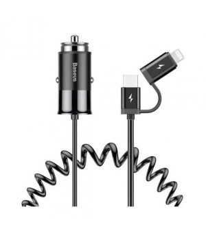 Автозарядне Baseus Car Charger Enjoy Together 2in1 black